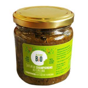 caviar champignons au curcuma