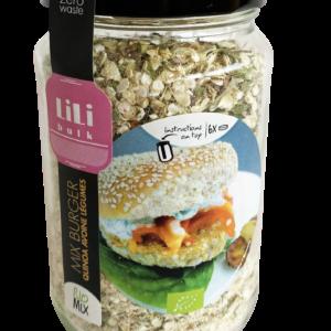 Burger quinoa avoine legumes